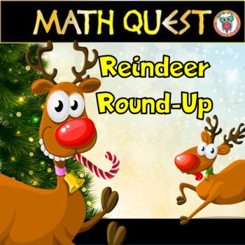 "Christmas Math Activity: Reindeer ""Around the World Round-"