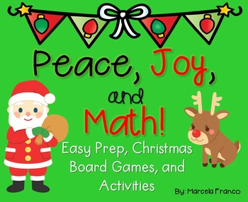 Christmas Math for First Grade- Board Games, Solve the Roo