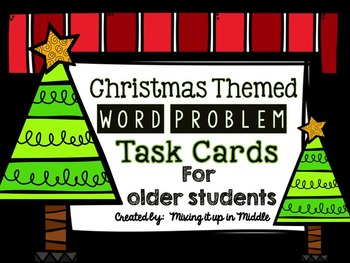 Christmas Math Center:  Christmas WORD PROBLEMS for Older