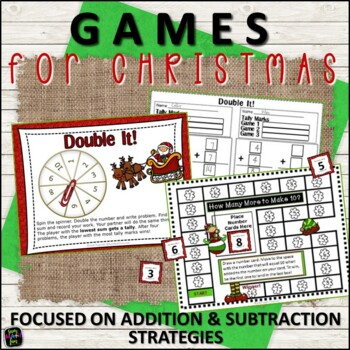 Christmas Math Games Addition and Subtraction First Grade