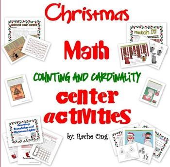 Christmas Math Center or File Folder Games for PreK/Kinder