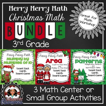 Christmas Math Games for 3rd Grade