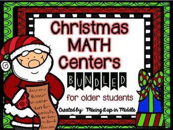 Christmas Math Centers BUNDLED for OLDER STUDENTS