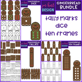 Gingerbread Clip Art - Christmas Gingerbread Math Clip Art BUNDLE