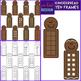 Gingerbread Clip Art - Christmas Gingerbread Math Clip Art BUNDLE