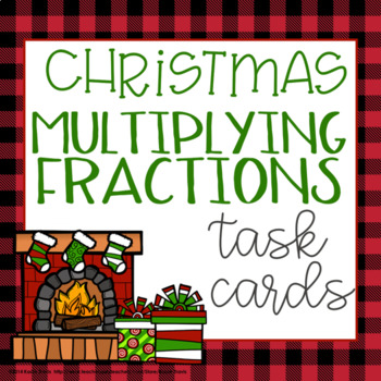 Christmas Math- Fraction Task Cards