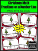 Christmas Fractions on a Number Line Math Task Cards for C