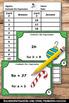 Christmas Math Algebra Activities Algebraic Expressions Ta