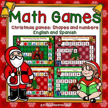 Christmas Math Games-Bilingual