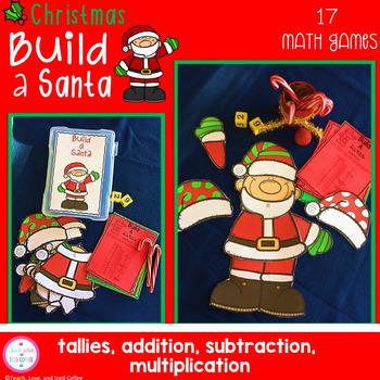 Christmas Math Games Build A Santa