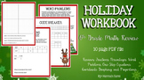 Christmas Math Holiday Workbook Middle School Math