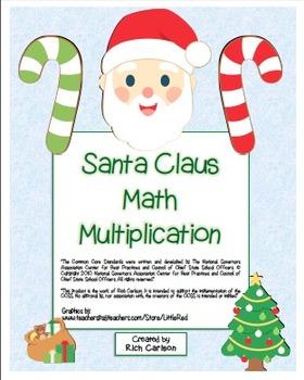 """Christmas Math MEGA BUNDLE"" Mixed Multiplication Common C"