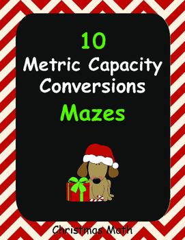 Christmas Math: Metric Capacity Conversions Maze