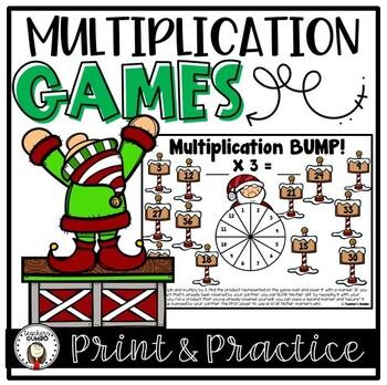 Christmas Math - Multiplication Games