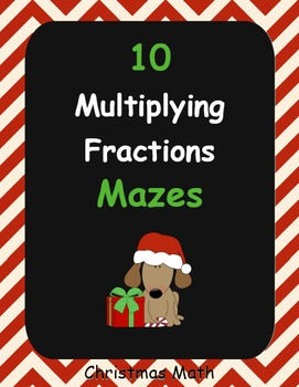 Christmas Math: Multiplying Fractions Maze
