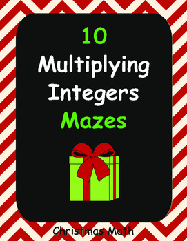 Christmas Math: Multiplying Integers Maze