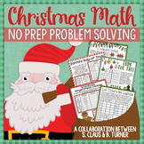 Christmas Math NO PREP Problem Solving