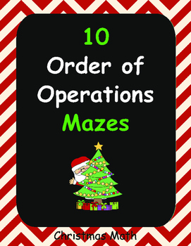 Christmas Math: Order of Operations Maze