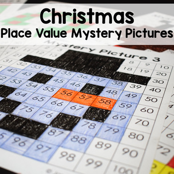 Christmas Math Place Value Mystery Pictures