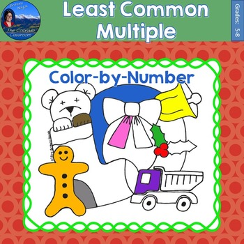 Least Common Multiple (LCM) Math Practice Christmas Color