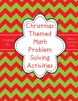 Christmas Math Problem Solving Activities
