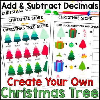 Christmas Math Project: Build a Christmas Tree, Adding Decimals