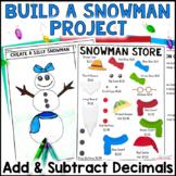 Christmas Math Project: Build a Snowman Problem Based Lear