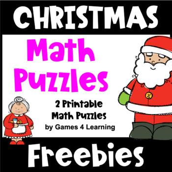 Christmas Free: Christmas Math Puzzles