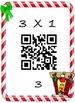 Christmas Math Multiplication QR Fact 3's