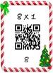 Christmas Math Multiplication QR Fact 8's