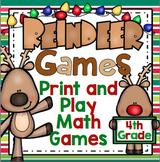 Christmas Math: Reindeer Games - 4th Grade