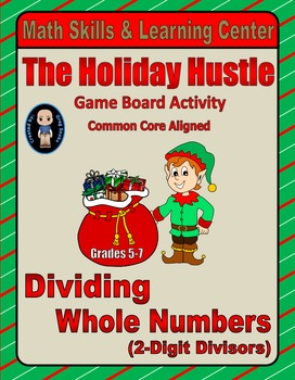 Christmas Math Skills & Learning Center (Division with 2-D