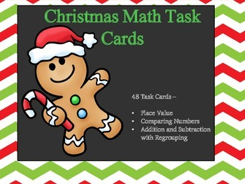 Christmas Math Task Cards (CCSS - 4th Grade)