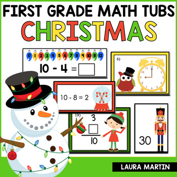 Math Centers-Christmas First Grade Common Core Activities