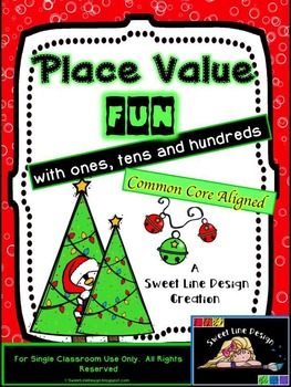 Christmas Math / Winter Place Value Print and Go Games {Sw