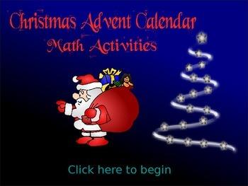 Christmas Math Activities Word Problem Advent Calendar (ED