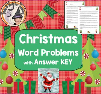 Christmas Math Word Problems with Answer KEY Happy Holiday