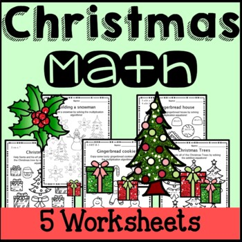 Christmas Math Worksheets Multiplication 3rd Grade 4th Gra