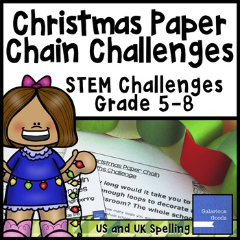 Christmas Math and Engineering - Paper Chain Challenges