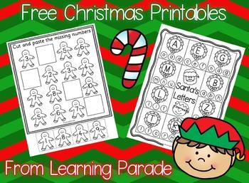 Kindergarten Christmas: Math and Literacy Fun Freebie