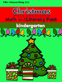 Christmas Math and Literacy No prep Kindergarten