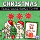 Christmas Math and Literacy Worksheets, Word Wall and Game