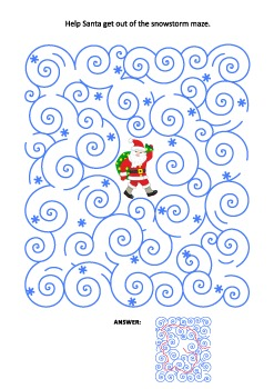 Christmas Maze Game with Santa, Commercial Use Allowed