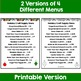 Christmas Menu Math: Multistep Addition and Subtraction Wo