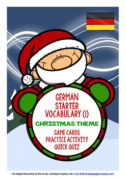 GERMAN STARTER VOCABULARY (1) - CHRISTMAS EDITION - GAMES