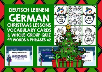 GERMAN STARTER VOCABULARY (2) - CHRISTMAS EDITION - GAMES