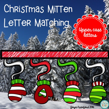 Christmas Letter Matching (Upper Case Version)