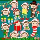 Christmas Monkeys 2 Clipart Set
