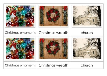 Christmas Montessori Nomenclature Cards