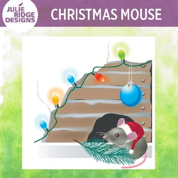 Christmas Mouse Clip Art